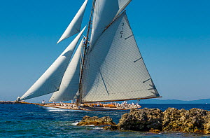 'Mariquita' racing in the Panerai Classic Yacht Challenge, Argentario Sailing Week 2013. Porto Santo Stefano, Italy, 14th June 2013. All non-editorial uses must be cleared individually. - Sea  & See