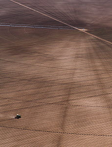 Vast field with rotary irrigation and tractor, Chihuahua, Mexico. May 2008. - Krista Schlyer