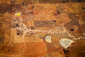View from plane of landscape between Alice Springs and Perth, Australia, November.  -  Paul Williams