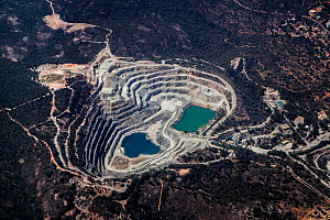 View from plane of quarry, Western Australia, November. - Paul Williams