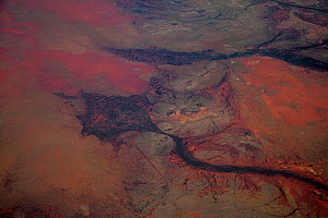 View from plane of Gibber landscape, Newman, Western Australia, November. - Paul Williams