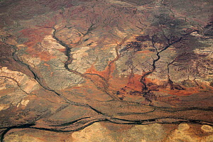 View from plane of dried rivers, Nullagine, Western Australia, November. - Paul Williams