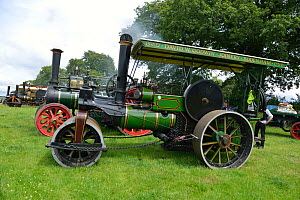 Steam traction engines at Bromyard Gala, Herefordshire, England. July 2014. - Will Watson