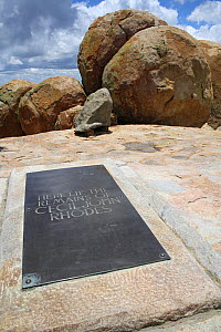 Worlds view, grave of Cecil Rhodes, Matobo Hills, Zimbabwe. January 2011.  -  Steve O. Taylor (GHF)