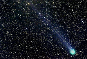 Comet Lovejoy, C/2014 Q2, going past the constellation Aries. Taken from Colorado, USA. January 22 2015. Focus stacked image.  -  Charlie  Summers