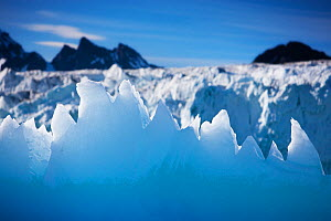 Landscape of Lillehooksbreen glacier at Svalbard, Norway, July 2008.  -  Ole  Jorgen Liodden