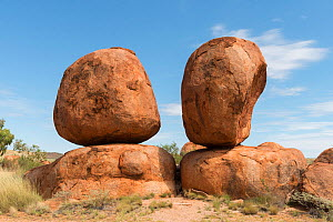 Devils marbles, granite boulders formed millions of years ago, Devils Marbles Conservation Reserve, Northern Territory, Australia.  -  Juergen Freund