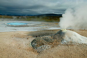 Geysers and  landscape at Hveravellir, Iceland, August 2003. - Cyril Ruoso