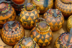 Pumpkins decorated by Hamer tribe,  Lower Omo Valley. Ethiopia, November 2014  -  Enrique Lopez-Tapia