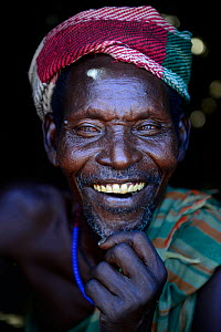 Arbore man smiling, with traditional clothes. Lower Omo Valley. Ethiopia, November 2014  -  Enrique Lopez-Tapia