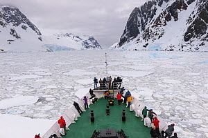 Passengers aboard the 'Ushuaia' expedition vessel, Antarctica. All non-editorial uses must be cleared individually. - Jaime  Rojo