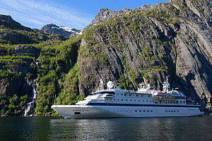'Clipper Odyssey' in Trollfjord, Norway, June 2012. All non-editorial uses must be cleared individually. - Rick Price