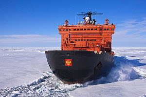 Russian nuclear-powered icebreaker '50 Years of Victory' en route to North Pole. All non-editorial uses must be cleared individually. - Sue Flood