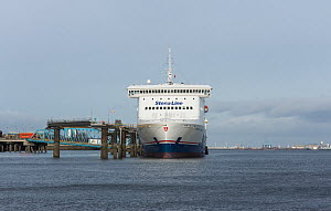 Birkenheaf to Belfast passenger ferry 'Stena Lagan' at the Twelve Quays terminal, Birkenhead, Merseyside, England UK. January 2015 All non editorial uses must be cleared individually. - Norma  Brazendale