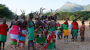 Samburu warriors dancing at night, Mount Kulal, Kenya, 2014. - Steve O. Taylor (GHF)
