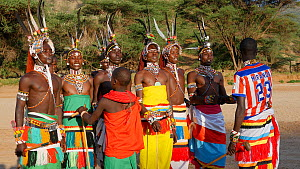 Samburu warriors dancing, Mount Kulal, Kenya, 2014. - Steve O. Taylor (GHF)