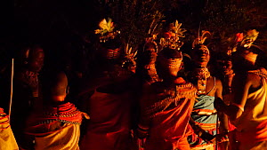 Samburu people dancing at night, Mount Kulal, Kenya, 2014. - Steve O. Taylor (GHF)