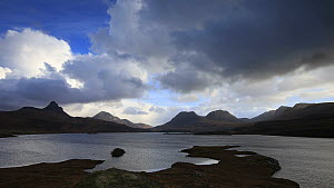 Timelapse of clouds moving over mountains and loch, Assynt, November 2013 - SCOTLAND: The Big Picture