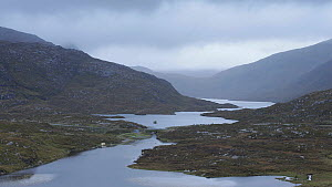 Timelapse of rain sweeping across North Harris, Outer Hebrides, Scotland, UK, September 2014.  -  SCOTLAND: The Big Picture