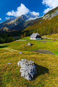 House in Soca valley, Triglav National Park,  Julian Alps, Bovec, Slovenia, October 2014. - Juan  Carlos Munoz