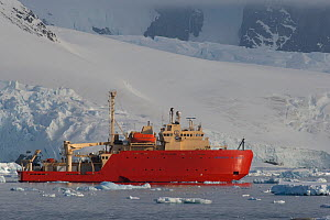 RV Laurence M. Gould icebreaker used by researchers from the United States' National Science Foundation, anchored off Petermann Island, Antarctica. November 2007. - Charlie  Summers