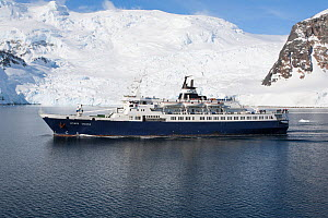 The Lyubov Orlova, a polar expedition ship, Lemaire Channel, Antarctica. November 2007. - Charlie  Summers