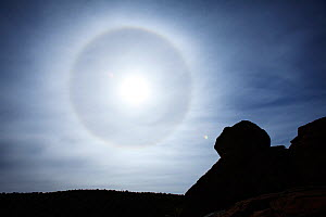 Sundog or parhelion phenomena, Mountain Zebra National Park, South Africa.  -  Richard Du Toit