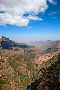 Expansive view of Simien Mountains National Park, Amhara Region, Ethiopia, Africa, March 2009 - Constantinos Petrinos