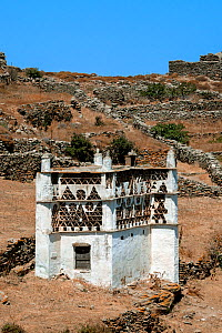 Tinos Dovecotes, The island of Tinos is famous for its many intricately designed dovecotes. Tinos island, Cycladic islands, Aegean Sea, Greece, Mediterranean, August 2014. - Constantinos Petrinos