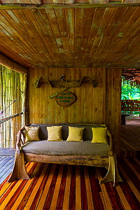 Interior of Danta Corcovado Lodge, Puerto Jimenez, The Osa Peninsula, Puntarenas Province,  Costa Rica. November 2014. - Juan  Carlos Munoz