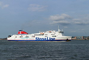 Belfast to Birkenhead ferry 'Stena Mersey' heading to Twelve Quays ferry terminal Birkenhead, Merseyside, UK, June 2014. All non-editorial uses must be cleared individually. - Norma  Brazendale