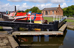 Restored canal barge permanently moored in Ellesmere Port Boat Museum, Cheshire, UK, September 2015. - Norma  Brazendale