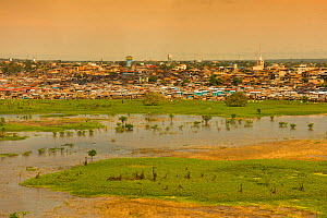 Iquitos and the River Amazon, showing flood plain of Itaya and Amazon RIvers, Peru, July 2015.  -  Mark  Bowler