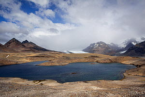 Small lake above Fortuna Bay, suggested to be along the route which Shackleton and his men took when crossing South Georgia on their way down to Stromness South Georgia, South Atlantic, January 2012.  -  Brent  Stephenson