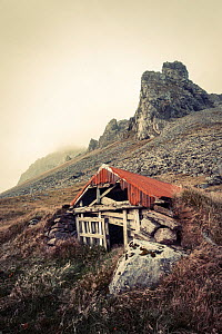 Abandoned shelter near Stokkness, Iceland, September 2015.  -  Niall Benvie