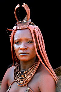 Portrait of Himba woman with traditional hair style, Kaokoland, Namibia October 2015 - Eric Baccega