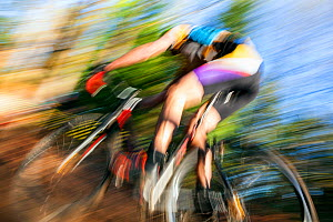 Cyclocross bicycle race in Seattle, Washington, USA. November 2015.  -  Kirkendall-Spring