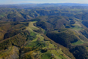 Deforestation and traditional coexistance in the Sureanu Mountains. Carpathians, Romania. October, 2014.  -  Zoltan Nagy