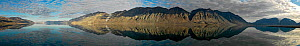 Panoramic of the Tanquary Fjord, Ellesmere Island, Nunavut, Canada, August 2007.  -  Pal Hermansen