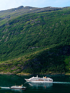 Boats in Geiranger Fjord, Norway, August 2008. - Pal Hermansen