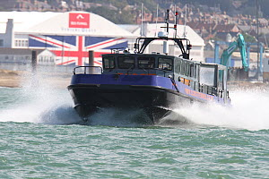 Motor boat in The Solent, UK, August 2015. - Ingrid  Abery