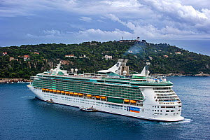Cruise ship MS Liberty of the Seas of Royal Caribbean International, docked in Nice on French Riviera, France, Europe. October 2014. - Philippe Clement