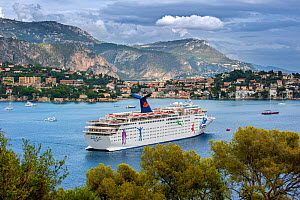 Cruise ship MS Grand Holiday of Carnival Cruise Lines, docked in Nice on the French Riviera, France, Europe. October 2014. - Philippe Clement