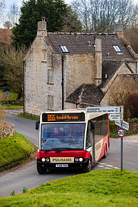 Rural public transport, Northleach, Gloucestershire, UK. March 2014.  -  Nick Turner