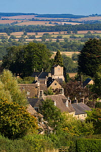 Village of Idbury, late summer, Oxfordshire, UK. September 2015.  -  Nick Turner