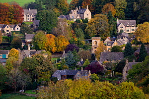 Autumn view of Snowshill, Gloucestershire, UK. October 2015.  -  Nick Turner