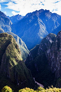 Sacred Valley from Machu Picchu, Inca Trail, Peru. December 2013.  -  Merryn  Thomas