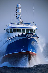 Fishing vessel 'Ocean Harvest' fishing, Suduroy Bank, Faroe Islands. April 2015. Property released.  -  Philip  Stephen