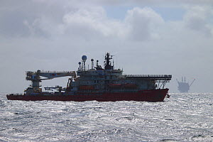 Dive support vessel  operating on the North Sea, May 2015.  -  Philip  Stephen