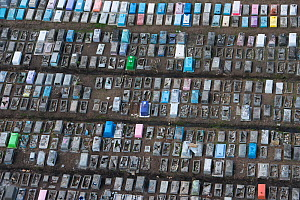 Aerial view of cemetery, Georgetown, the capital of Guyana South America  -  Pete Oxford